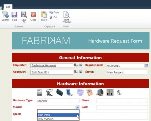 Fabrikam demo - Request form