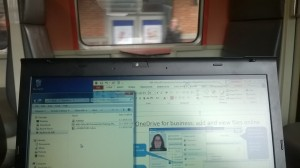 Digital workplace on a train