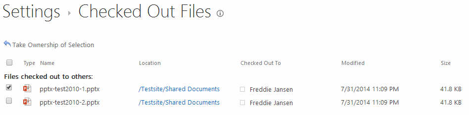 Documents-CheckedOut-TakeOwnership