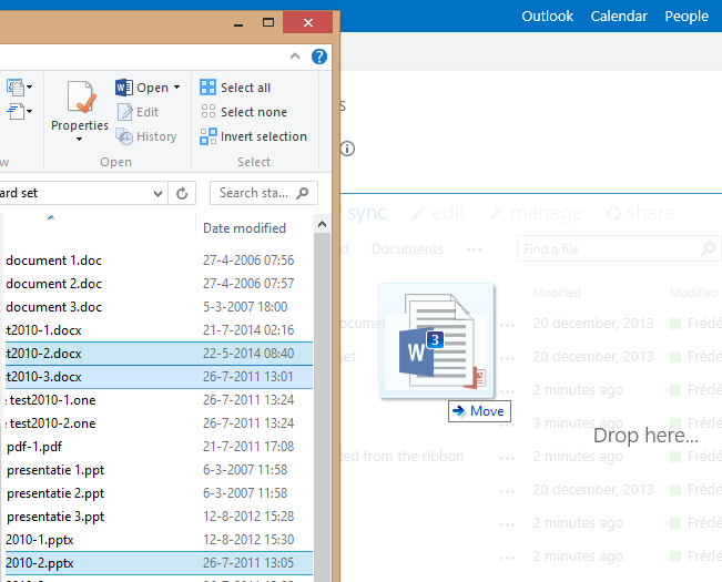 Drag and drop multiple documents into a SharePoint document library