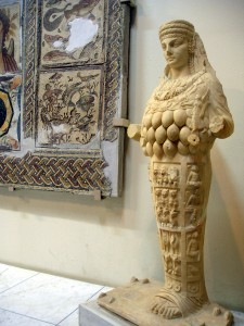 Artemis of Ephese is a fertility godess (Museum Tripoli, Libya)