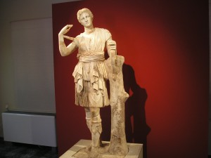 The classical Artemis is the godess of the hunt (Museum of Messene, Greece)