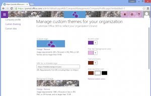O365 Custom theming