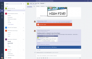 The Microsoft Teams desktop app