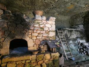 Medieval troglodyte house in La Madeleine