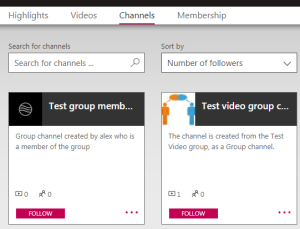 Partial screenshot: channels tab