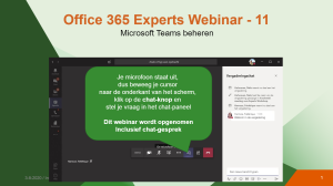 Webinar welcome slide in MS Teams
